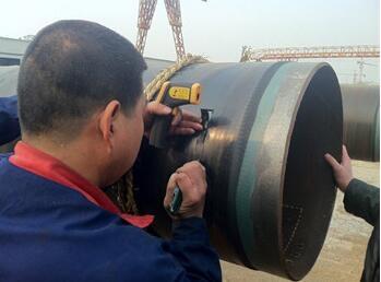 预制保温管施工厚度检测